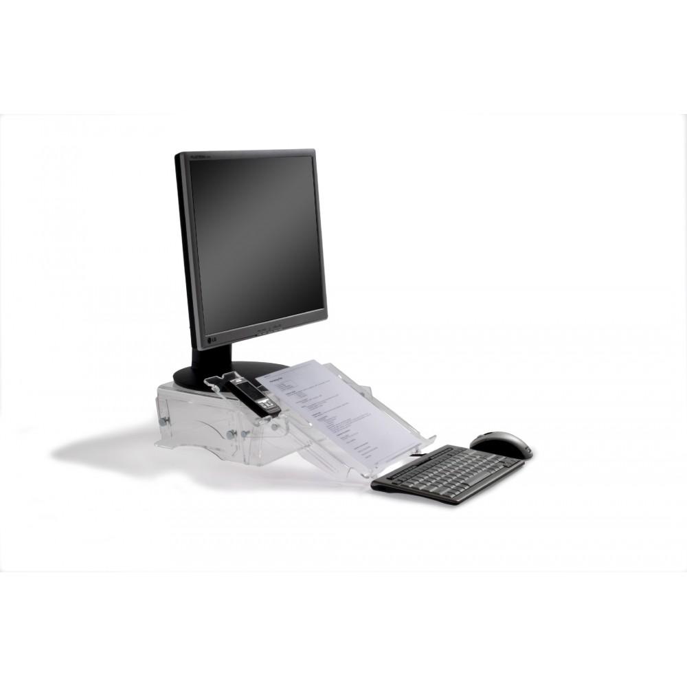Réhausseur d'ecran et support document